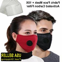 NEW Face Mask with Breathing Valve,Washable/Reusable Mask Pl