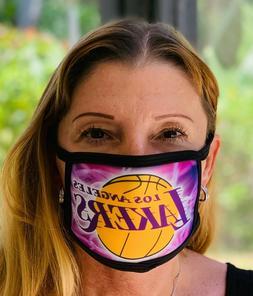 NEW LA Lakers Unisex Reusable Fabric Face Mask Fashion Machi