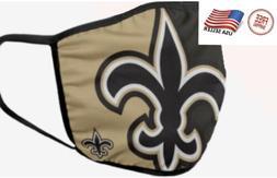 New Orleans Saints NFL Face Mask Washable/Reusable Cotton Fr