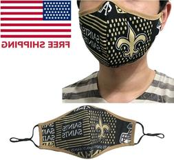 New Orleans Saints NFL Football Quality Fabric Face Mask Was