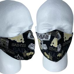 New Orleans Saints USA MADE Cotton Face Mask With Adjustable