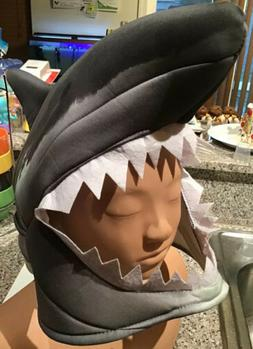 New Shark Mask Cap Hat Head piece Adult One Size Halloween F