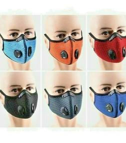 NEW Cycling Face Mask With Active Breathing Valves Carbon Fi
