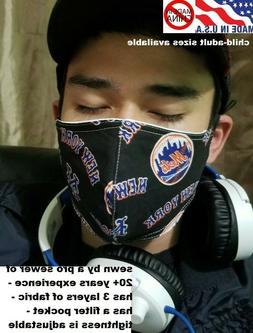 New York Mets face mask NY Mets face mask adjustable tightne