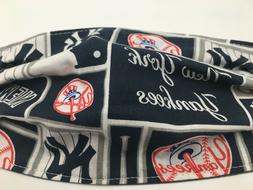 New York Yankees Baseball Washable Reusable Face Mask In Sto