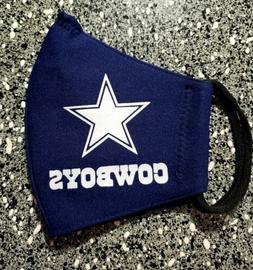 NFL Dallas Cowboys Face Mask Fabric Washable, Reusable Handm