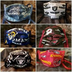 Handmade NFL face masks/covers RAIDERS * COWBOYS * CARDINALS