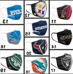 nfl football teams adults face mask washable