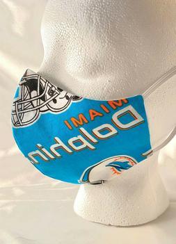 NFL Miami Dolphins Face Mask Football Team Sports Fabric reu