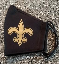NFL Saints Face Mask Fabric Washable, Reusable Handmade Made