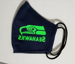 NFL SEAHAWKS Face Mask Fabric Washable, Reusable Handmade Ma