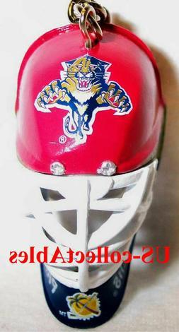 NHL FLORIDA PANTHERS Hockey Goalie Face Mask Keychain Sports