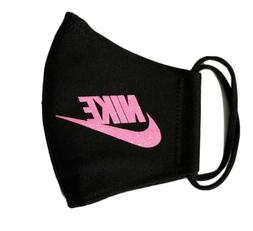 Nike Glitter Pink. Face   Mask Fabric Washable, Reusable Han