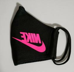 Nike Neon Pink. Face   Mask Fabric Washable, Reusable Handma