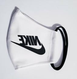 Nike White Black. Face Mask Fabric Washable, Reusable Handma