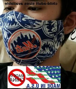 NY Mets face mask New York Mets adjustable tightness, filter