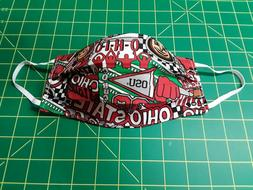 Handmade Ohio State Face Mask~OSU Pop Art!~Reusable~Washable