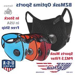 BZMasks Optima Sports Mask Reusable Cycling Mask Active Carb