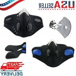 Outdoor Activated Carbon Riding Face Mask Shield with filter