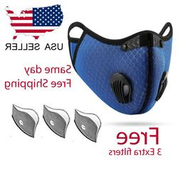Outdoor Cycling running  reusable Sport Mask with carbon Fil