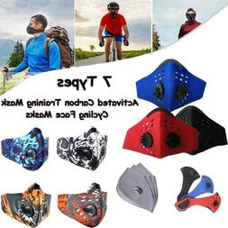 Outdoor sports Cycling Face mask Reusable with Activated Car