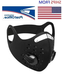 outdoor sports face cover built in filter