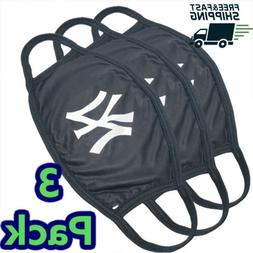 Pack Of 3   New York Yankees Cloth Face Mask Cotton Reusable