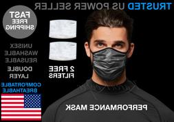 Performance Working Out Face Mask Breathable Washable Reusab