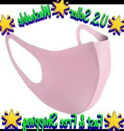 Pink Unisex Face Mask Reusable Washable Cover Masks Fashion