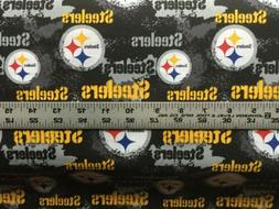 "Pittsburgh Steelers 100% Cotton Fabric 1/3 yard -  12"" x 44"