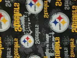 """Pittsburgh Steelers 100% Cotton Fabric 9"""" x 44"""" for ma"""