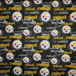 "PITTSBURGH STEELERS Distressed COTTON FABRIC FQ ""18 x 21"" fo"