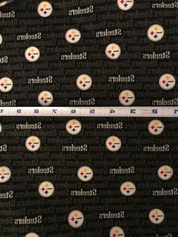 Pittsburgh Steelers NFL Mini Logo Cotton Fabric 1 Yard - goo