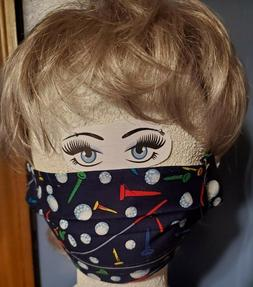 Handmade Pleated Cotton Washable Double Layer Face Mask Spor