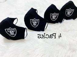 Raiders Sports Face Mask Football NFL Reusable Washable Pack