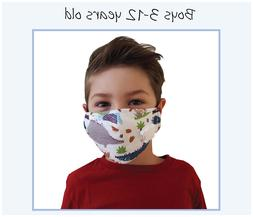 Red Reusable Face Mask Kids Adult Fashion Washable Masks Men