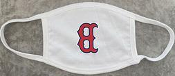 Red Sox Logo White Custom Protective Face Mask Washable Reus
