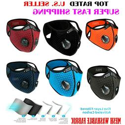 NEW Reusable Style Cycling Face Mask With Active Carbon Filt
