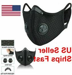 Reusable  Activated Carbon Cycling Half Face Mask with PM 2.