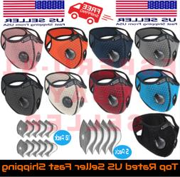 Reusable Activated Carbon Cycling Half Face Mask with 1 PM 2