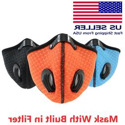 Reusable Activated Carbon Cycling Half Face Mask with PM 2.5