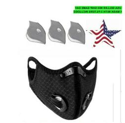 Reusable Breathable Sport Face Mouth Mask With Activated Car