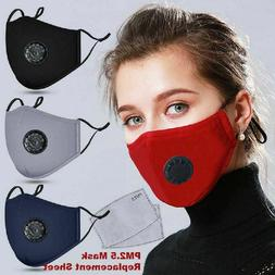 Reusable Cloth Cotton Face Mask Guard With Air Breathing Val