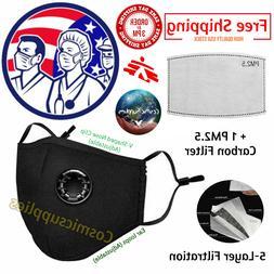 Reusable Triple Layers Soft Cloth Face Mask Adjustable Washa
