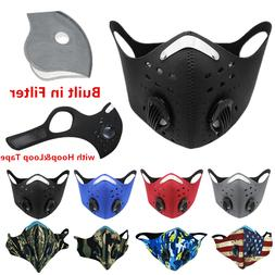 Reusable Cycling Sports Face Mask with Active Carbon Filter