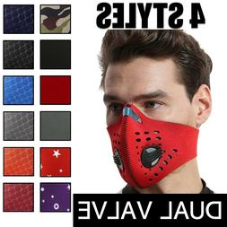 Reusable Dual Air Breathing Valve Face Mask Cover with Activ