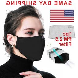 Reusable Face Mask pm2.5 Filter Mouth Pocket, Washable, unis