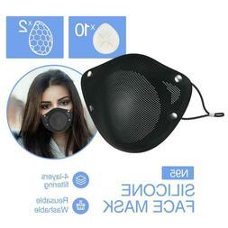 Reusable Face Mask Silicone With Non-Woven FDA Approved Filt