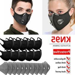 Reusable Face Mouth Maske W/Valve & 3/4/5 Layer Insert Filte