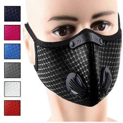 Reusable Face Mask with Carbon Filter Valves Sports Cycling